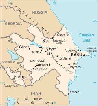 Карта Азербайджана - фото