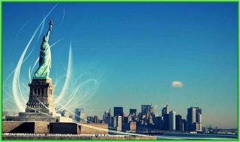 Америка открывает некоторые достопримечательности - Нью-Йоркская Статуя Свободы