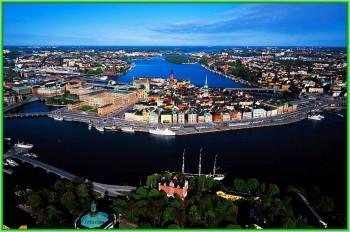 Один из самых красивых городов Швеции и её столица Стокгольм