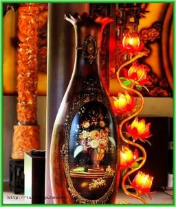 Более дорогим эстетическим удовольствием будет приобретение во Вьетнаме ваз из дорогих пород дерева