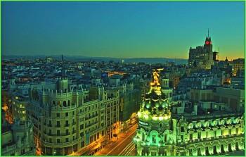 Мадрид современный город с развитой инфраструктурой. Рассвет в Мадриде
