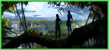 На планете Пандора - прекрасный ландшафт и аватар с подругой