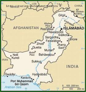 Пакистан карта фото