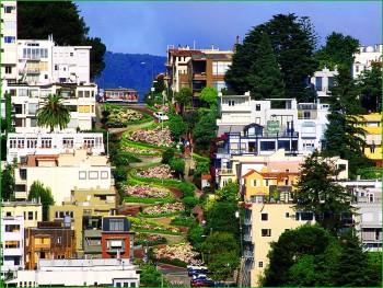 По Сан-Франциско с детьми - Ломбард стрит фото