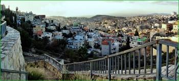 путешествие с ребёнком в Израиль - панорама октябрьского Назарета фото