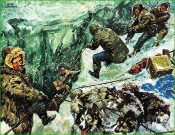 КартинаАркаса Амудсен на пути к Южному Полису фото