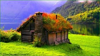 Фото норвежской природы - сказочный домик