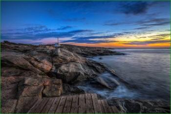 Фото природы Норвегии - морское побережье