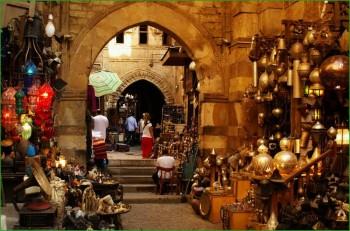 Рынок Хан-эль-Халили в Египте февраль фото