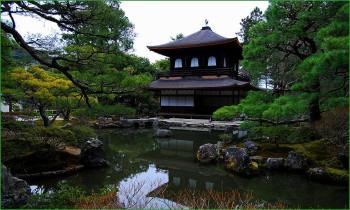 Серебряный павильон в Киото фот о