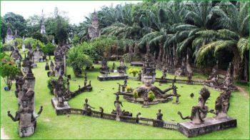 парк Будды в столице Лаоса Вьентьяне фото