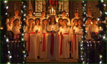 Праздник Света в декабре в Финляндии фото