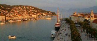Путешествие в Далмацию Хорватии в июне