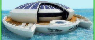 Солнечные плавучие острова на Мальдивах