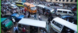 Матату - основной транспорт Кении
