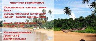 Шри-Ланка - информация для туристов