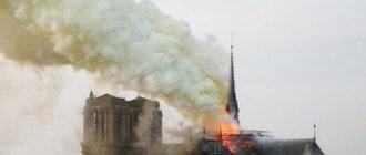 Собор Парижской Богоматери удалось потушить