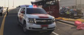 Автобус с туристами попал в аварию в Дубае